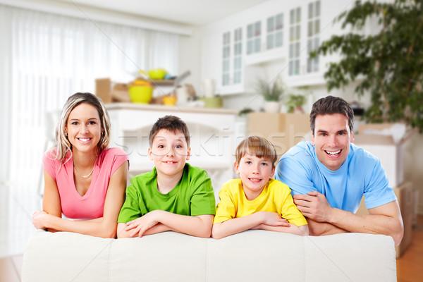 Happy family at home. Stock photo © Kurhan
