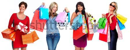 Group of happy shopping customers. Stock photo © Kurhan