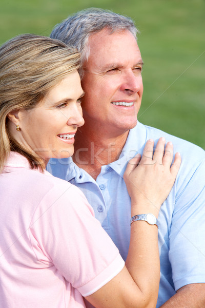 Gelukkig ouderen paar liefde park Stockfoto © Kurhan