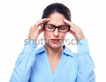 Young woman with headache. Stock photo © Kurhan
