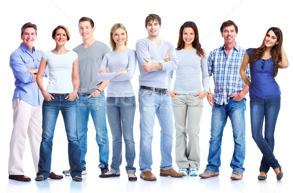 Group of men and women. Stock photo © Kurhan
