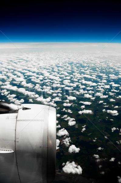 Nuages blanche vue fenêtre avion ciel Photo stock © Kurhan