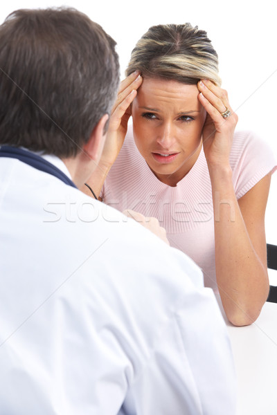 doctor and woman patient Stock photo © Kurhan