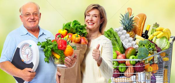 スケール 野菜 高齢者 カップル 緑 ストックフォト © Kurhan