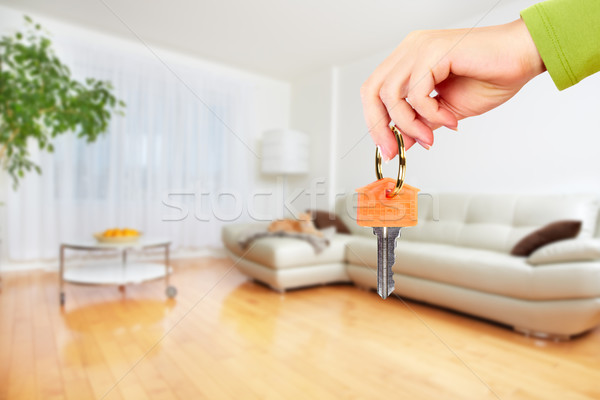 Hand with house key. Stock photo © Kurhan