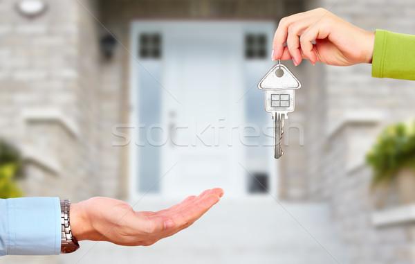 Mano clave casa claves construcción Foto stock © Kurhan