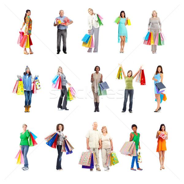 Shopping people set. Stock photo © Kurhan