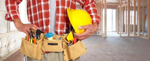 建設作業員 ヘルメット ツール ベルト 建物 ストックフォト © Kurhan