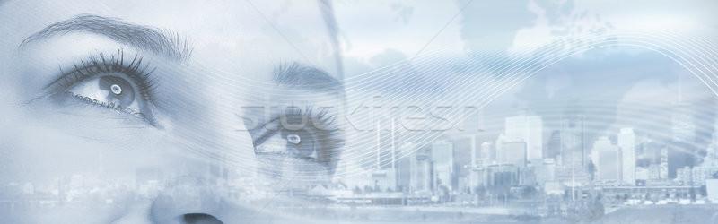 Kobieta oczy młodych piękna kobieta patrząc Zdjęcia stock © Kurhan