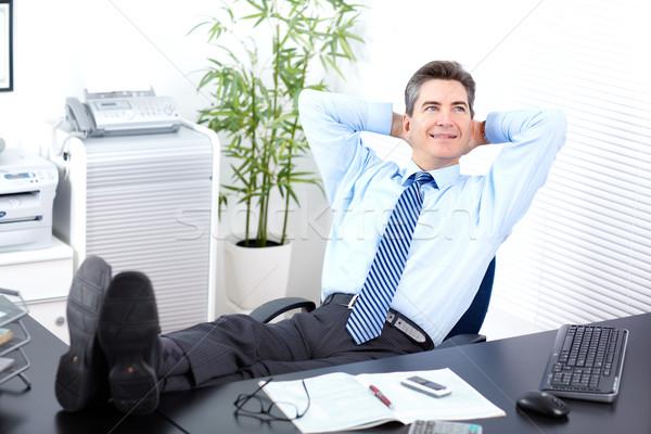ビジネスマン 成熟した 笑みを浮かべて ビジネスマン リラックス 現代 ストックフォト © Kurhan