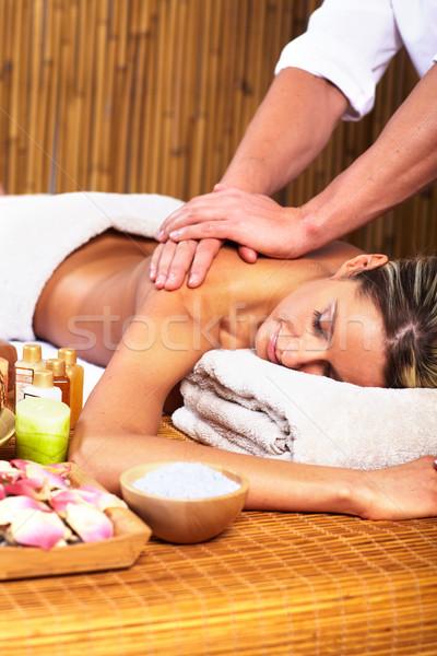 Сток-фото: Spa · массаж · салона · расслабиться · воды
