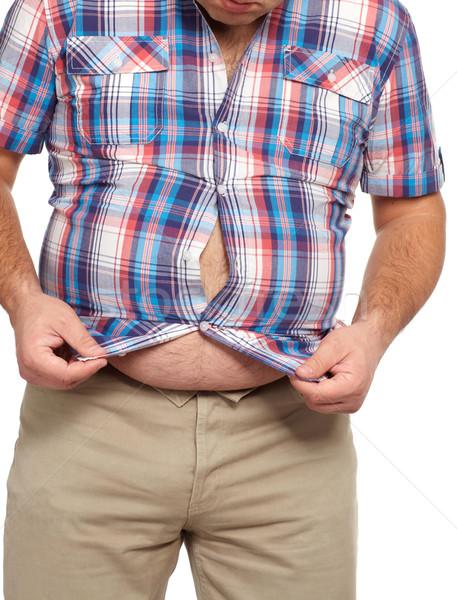 Fat man with a big belly. Stock photo © Kurhan