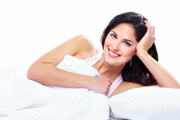 寝 女性 美しい ベッド リラックス 少女 ストックフォト © Kurhan