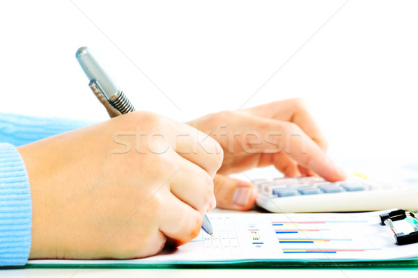 Hands with calculator. Stock photo © Kurhan