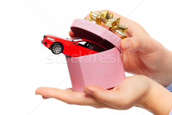 Новый автомобиль подарок Auto аренда женщину Сток-фото © Kurhan
