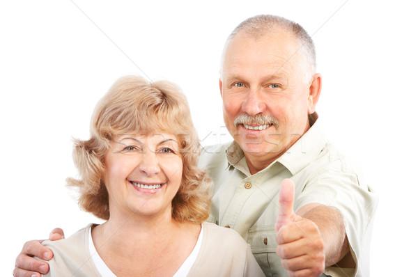 ストックフォト: 高齢者 · カップル · 幸せ · 愛 · 孤立した · 白