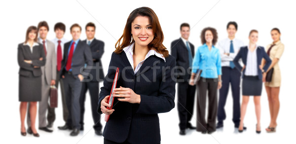 Pessoas de negócios grupo isolado branco mulher sorrir Foto stock © Kurhan