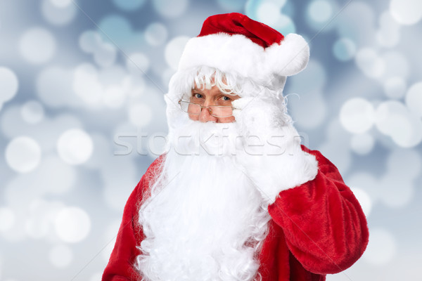 Santa Claus over sparkle abstract background. Stock photo © Kurhan