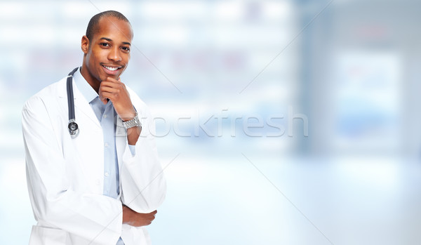 African-american doctor man. Stock photo © Kurhan