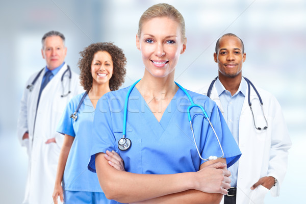 Stock photo: Group of hospital doctors.