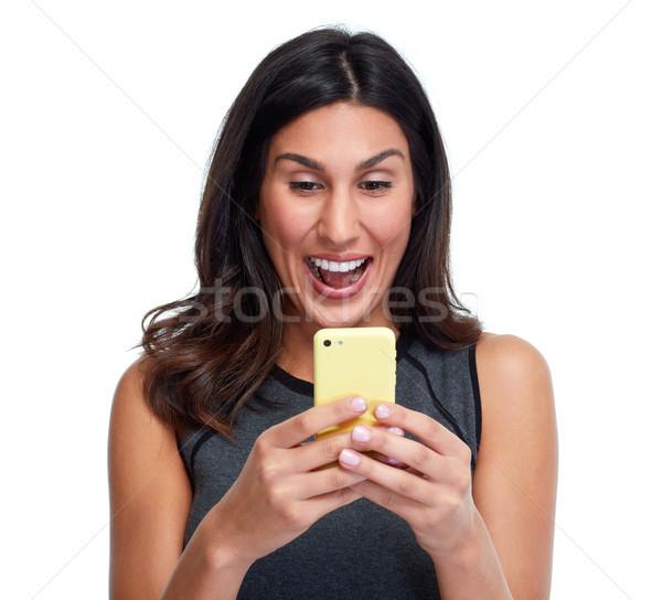 Woman with smartphone. Stock photo © Kurhan