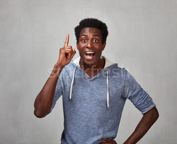 Happy black man. Stock photo © Kurhan