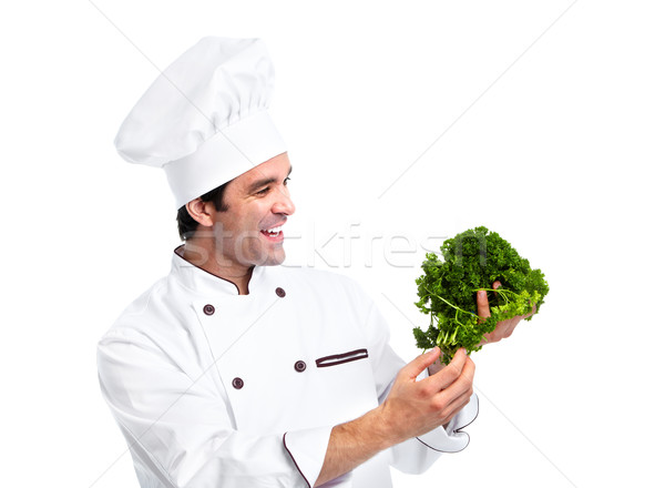 Chef man. Stock photo © Kurhan