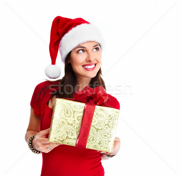 Foto d'archivio: Natale · donna · regalo · shopping · isolato
