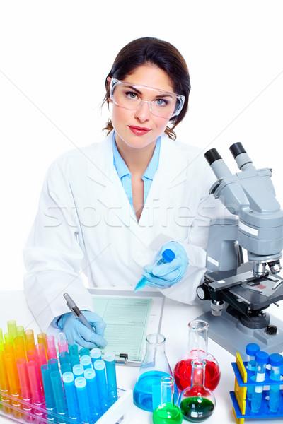 室 研究 科学的な 女性 女性 ストックフォト © Kurhan