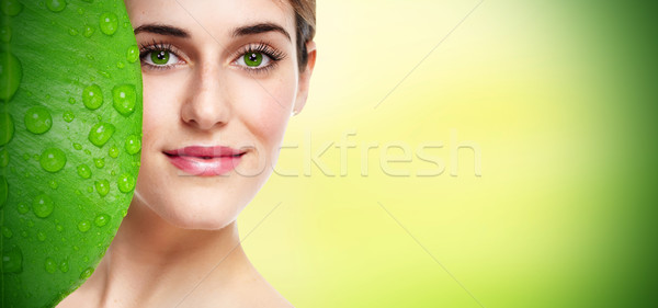 Beautiful woman portrait. Stock photo © Kurhan