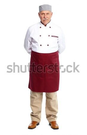 Stockfoto: Chef · man · senior · professionele · geïsoleerd · witte