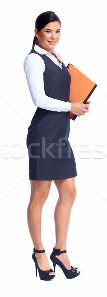 美しい ビジネス女性 孤立した 白 ビジネス 少女 ストックフォト © Kurhan