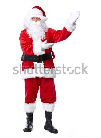 サンタクロース 孤立した 白 クリスマス 休日 パーティ ストックフォト © Kurhan
