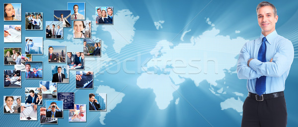 Business banner zakenlieden collage ontwerp succes Stockfoto © Kurhan