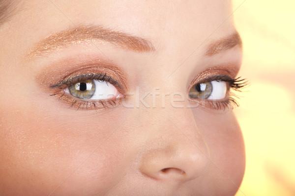 Mulher olhos belo mulher jovem cara Foto stock © Kurhan