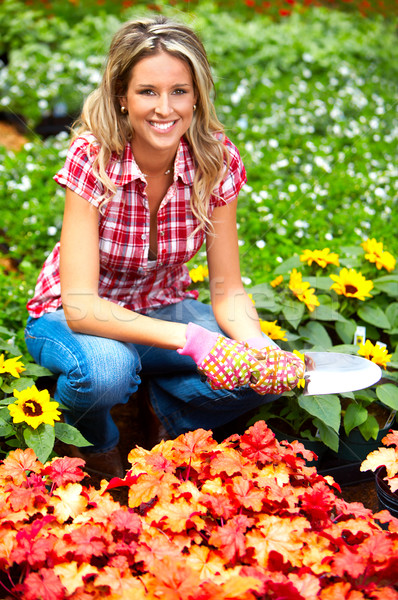 woman florist Stock photo © Kurhan