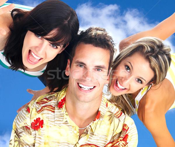 Pessoas felizes jovem blue sky céu família homem Foto stock © Kurhan