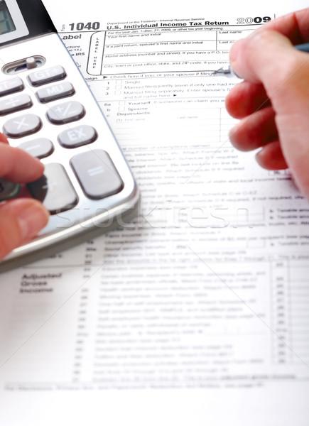Stok fotoğraf: Doldurma · vergi · form · standart · gelir · dönmek