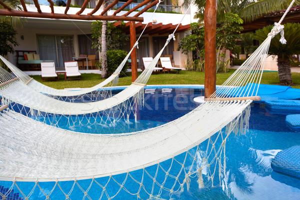Piscina maca luxo exótico recorrer saúde Foto stock © Kurhan