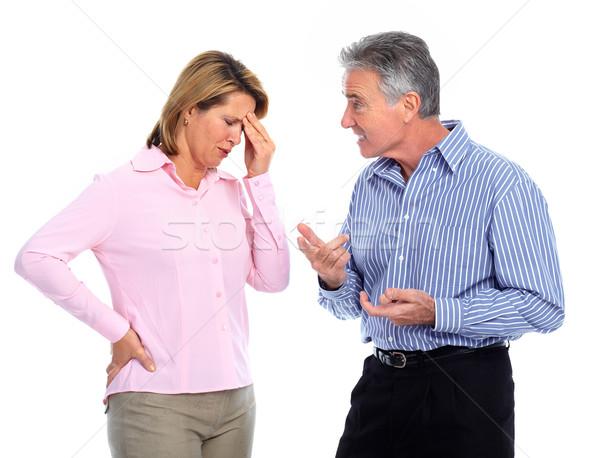 Stressed unhappy couple. Stock photo © Kurhan