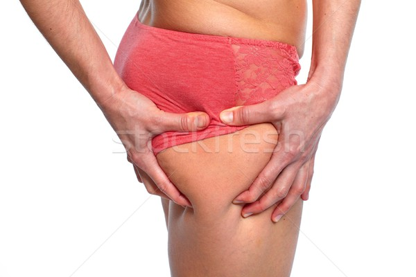 Vrouw butt dieet hand lichaam Stockfoto © Kurhan