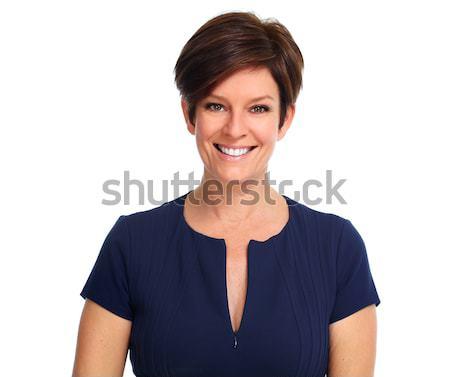 sch nen business woman reifen isoliert wei frau stock foto kurhan 6382168. Black Bedroom Furniture Sets. Home Design Ideas
