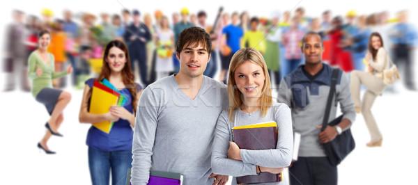 Group of students. Stock photo © Kurhan
