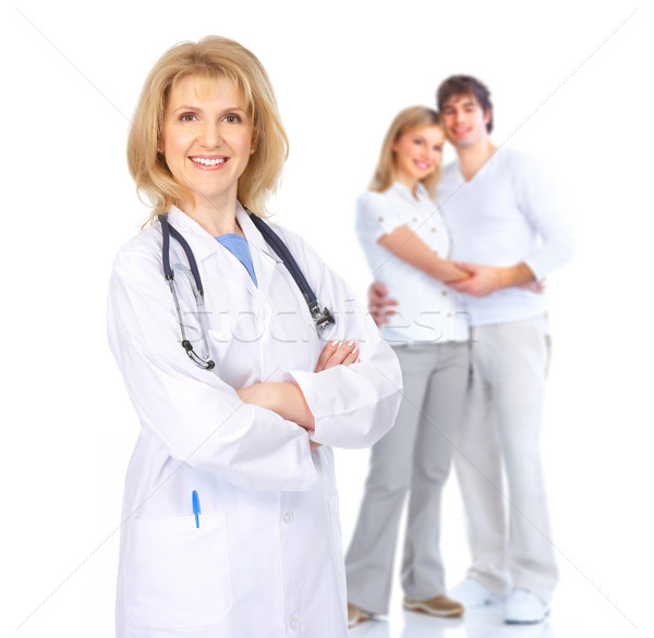 Doctor and young couple Stock photo © Kurhan