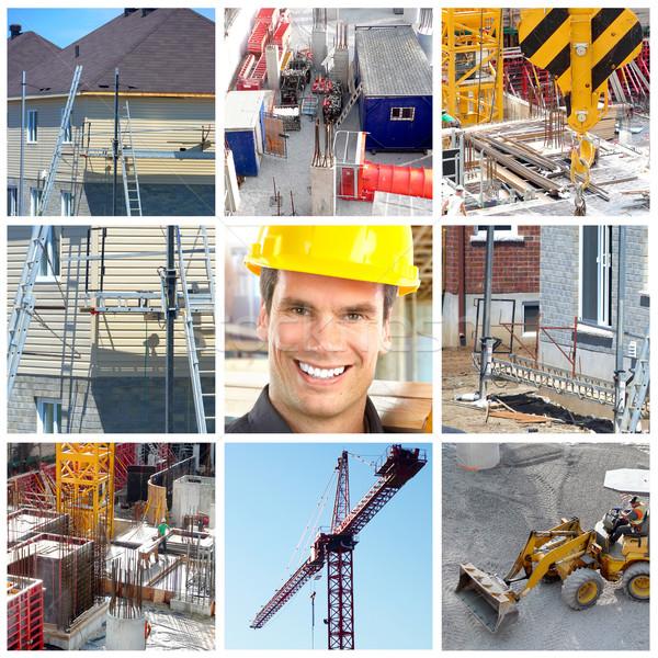 építkezés mosolyog ipari beszállító munkás emberek Stock fotó © Kurhan