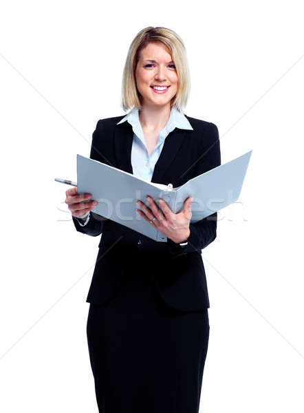 Accountant business woman. Stock photo © Kurhan