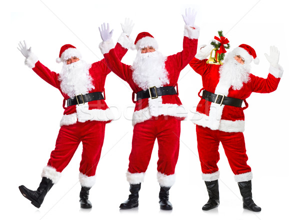 Group of Christmas Santa Claus. Stock photo © Kurhan