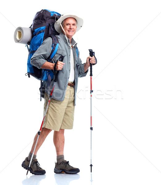 Tourist. Senior man. Stock photo © Kurhan