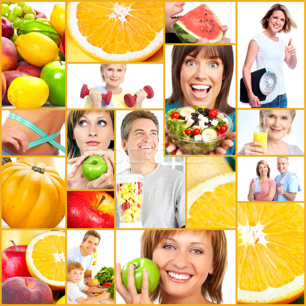 Healthy lifestyle people collage. Stock photo © Kurhan