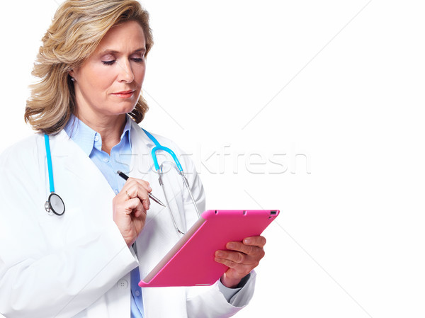 Medical doctor woman with tablet computer. Stock photo © Kurhan